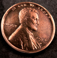 1914-S LINCOLN WHEAT CENT CENT // UNCIRCULATED RED // W236