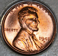 1945-D WHEAT CENT UNCIRCULATED BU RED [SN54]