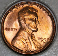 1945-D WHEAT CENT UNCIRCULATED RED [SN15]