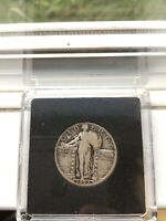 1926 STANDING LIBERTY/DETAIL-FINE/AIRTITE VIEWER/SILVER/CLEAR EAGLE/