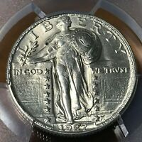PCGS MINT STATE 63FH 1927 STANDING LIBERTY SILVER QUARTER