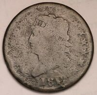 GENUINE FUR TRADE ERA US 1812 CLASSIC HEAD LARGE CENT BIG PENNY COIN
