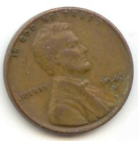 USA 1945D ONE CENT AMERICAN PENNY - 1C EXACT COIN SHOWN