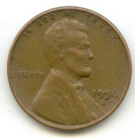 USA 1956D AMERICAN PENNY ONE WHEAT CENT COIN 1C EXACT PENNY SHOWN 1956 D