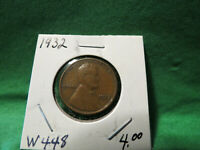 1932 LINCOLN WHEAT CENT LOT W448
