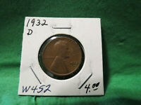 1932 D LINCOLN WHEAT CENT LOT W452