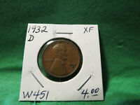 1932 D LINCOLN WHEAT CENT LOT W451