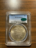 1888-S MORGAN SILVER DOLLAR $1 PCGS MINT STATE 64 CAC  KEY DATE