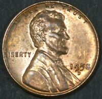 1958-D LINCOLN CENT PENNY BU WITH SOME  TONING   B16876
