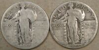 1926-S  1928-S STANDING LIBERTY QUARTERS 25C LOWER GRADE AS PICTURED