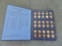 LINCOLN WHEAT HEAD CENT PENNIES IN COIN BOOK-1941-1974-CIRCULATED