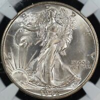 1942-S WALKING LIBERTY HALF DOLLAR GRADED MINT STATE 65 NGC