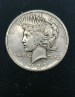 1921 $1 PEACE SILVER DOLLAR KEY DATE COIN      LOW MINTAGE1
