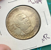 1946 BOOKER T. WASHINGTON/GEORGE W. CARVER SILVER HALF $  UNCIRCULATED?  H55