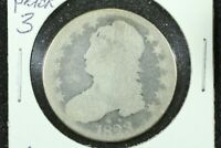 1823 CAPPED BUST HALF DOLLAR, PATCHED 3, AG