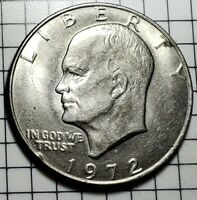 1972 D IKE DOLLAR COIN DOUBLE DIE OBVERSE TYPE 1
