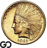 1911 GOLD EAGLE $10 GOLD INDIAN NICE MINT LUSTER    FREE SHI