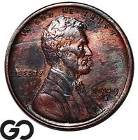 1909 S VDB LINCOLN CENT WHEAT PENNY AVIDLY PURSUED COLLECTOR