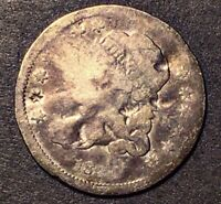 1837 CAPPED BUST HALF DIME  VARIETY SMALL 5C SILVER TYPE COIN LM-4