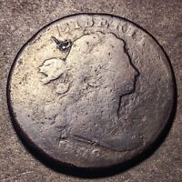 1798/7 DRAPED BUST LARGE CENT 1C S 151  OVERDATE ERROR LOWBALL TYPE COIN