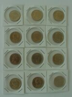 12 DIFFERENT US DOLLARS - SACAJAWEA, JEFFERSON, LINCOLN, TAYLOR, TYLER, GRANT