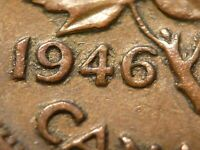 1946 CENT ZOELL R69E DOUBLE 946  WITH DOUBLED LEFT LEAF