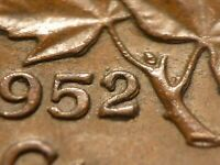 1952 CENT ZOELL R76H DOUBLE 52 DOUBLE LAST A IN CANADA DOUBLE RIGHT ML