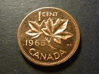 1965 PROOF LIKE 1 CENT TYPE 3  LARGE BEADS BLUNT 5