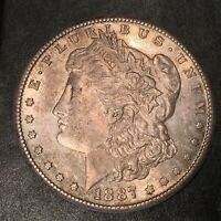 1887-S MORGAN SILVER DOLLAR - HIGH QUALITY SCANS I174