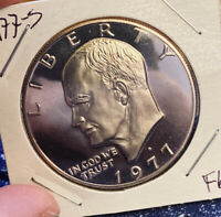 1977-S IKE $1 COIN  GEM PROOF  TONED  H89