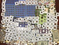 HUGE LOT 450 COIN/STAMP SILVER NOTE/MERCURY/BUFFALO/INDIAN/W