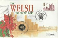 1995 COIN COVER THE WELSH ONE POUND COIN 1995 1 COIN.