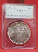1899 0 MORGAN DOLLAR PCGS MINT STATE 63 OGH