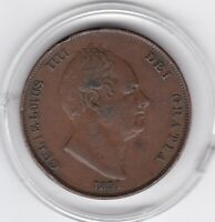 1831   KING  WILLIAM  IV    LARGE  PENNY  COPPER  COIN