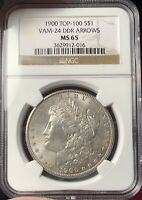 1900 MORGAN SILVER DOLLAR VAM 24 TOP 100 NGC MINT STATE 65,  ONLY ONE ON EBAY