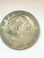 1819  GOERGE III  GREAT BRITAIN DOUBLE FLORIN  SILVER EARLY