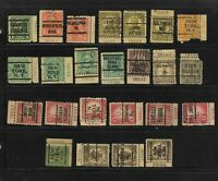 US PRECANCELS: WITH PERFINS; 1922 DEFINITIVES; PLATE NUMBER