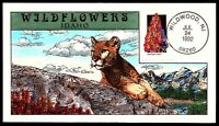 SCOTT 2664 29 CENTS HARLEUIN LUPINE COLLINS HAND PAINTED FDC