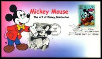 SCOTT 3912 37 CENTS MICKEY MOUSE DISNEY THEROME COLOR PRINTE