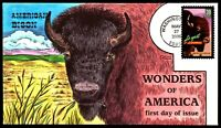 SCOTT 4041 39 CENTS AMERICAN BISON COLLINS HAND PAINTED FDC