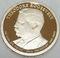 2013-S PRESIDENTIAL DOLLAR PROOF THEODORE ROOSEVELT GOLDEN  NO PROBLEM COIN