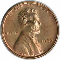 1952 LINCOLN CENT CHOICE PROOF RED UNCERTIFIED