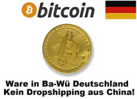 BITCOIN MNZE MEDALLIE GOLD GOLDBARREN VERGOLDET GOLDMNZE PLATIN PALLADIUM