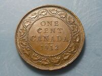 1912 CANADA LARGE CENT ALMOST UNCIRCULATED NICE PATINA