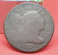 1795 FLOWING HAIR LARGE CENT, LTR EDGE - GREAT TYPE COIN AT A AFFORDABLE PRICE