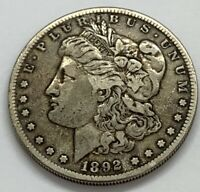 1892 S MORGAN SILVER DOLLAR - CLEANED