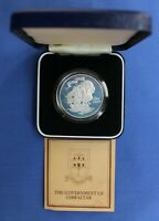 1980 GIBRALTAR SILVER PROOF CROWN COIN