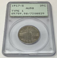1917 S STANDING LIBERTY SILVER QUARTER 25C TYPE 1