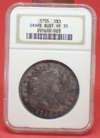 1795 DRAPED BUST DOLLAR NGC VF35- HIGHER GRADE - PERFECT FOR TYPE SET