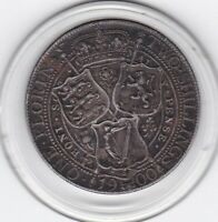 VERY  SHARP  1900   QUEEN  VICTORIA    FLORIN    2/     STERLING  SILVER   COIN